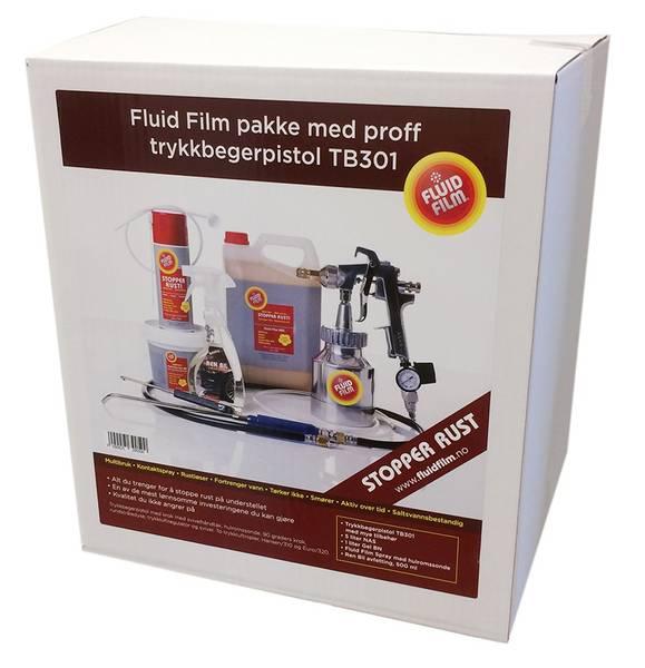 Fluid Film pakke med proff trykkbegerpistol ASAB TB301